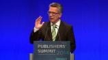 Image: 06.11.2014 Dr. Thomas de Maizi�re, Bundesminister des Innern Grundsatzrede Vortrag auf dem Publishers Summit 2014