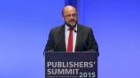 Image: 02.11.2015 Martin Schulz Präsident des Europäischen Parlaments� Rede auf dem Publishers Summit 2015