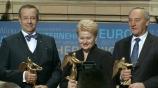 Image: 06.11.2014 Europäer des Jahres Präsidenten von Litauen, Estland und Lettland  Gewinner Goldene Victoria: