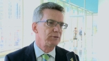 Image: 28.11.2014 Dr. Thomas de Maizi�re Bundesminister des Innern Im Interview auf dem Publishers Summit 2014