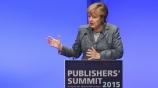 Image: 02.11.2015 Dr. Angela Merkel Bundeskanzlerin Rede auf dem Publishers Summit 2015
