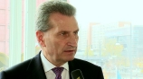 Image: 28.11.2014 Günther Oettinger EU-Kommissar Im Interview auf dem Publishers Summit 2014