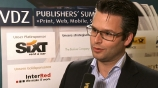 Image: 03.12.2012 Patrick Wentz Senior Account Manager Comscore Im Interview auf dem Publishers Summit 2012